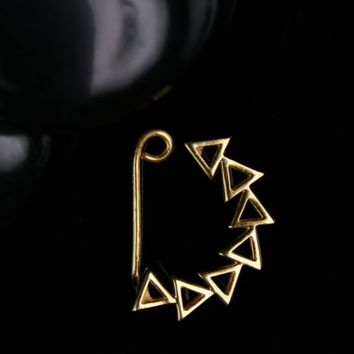 Silver Nath Triangles ( Gold Plated, Clip on)
